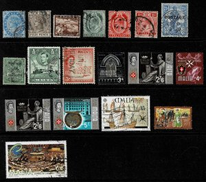 18 Unchecked Used Stamps of Malta