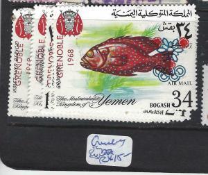 YEMEN (P1604B)  FISH, OLYMPICS  MNH