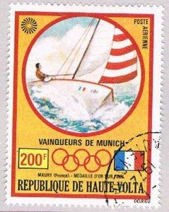 Burkina Faso C119 Used Gold medal Sailing 1972 (BP47511)