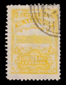 EL SALVADOR 1908 STAMP. SCOTT # O280 . USED. COLOR ERROR.