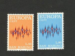 EUROPA CEPT-MNH** - SET- SAN MARINO - 1972.