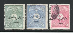 Turkey in Asia - Sc# 33 - 35 Used  /  Lot 0419001