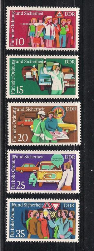 GERMANY - DDR SC# 1678-82 F-VF MNH 1975