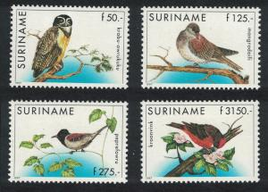 Suriname Owl Pigeon Antshrike Finch Birds 4v SG#1738-1741