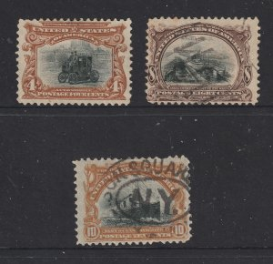 USA the 3 used high values from the 1901 set