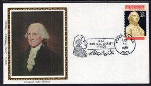 US First Inaugural Journey Perry ville,MD 1989 Colorano Cover