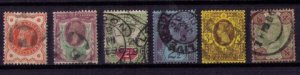 Great Britain Sc 111-122 Used Complete Jubilee Set Queen Victoria (1887-92) F-VF