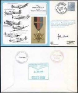 DM10a The 1939 to 1945 Star with Battle of Britain Clasp Signed by J.A. Ward (A)