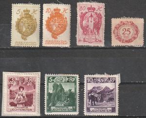 #32-3,41,J5,94-6 Liechtenstein Mint OGH