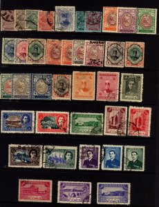 Persia 1902 - 52 Selection 36 Stamps Used & Unused F