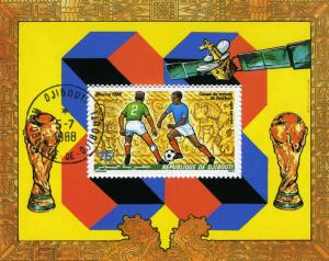 MEXICO Football World Cup 1986 Souvenir Sheet Perforated Fine Used