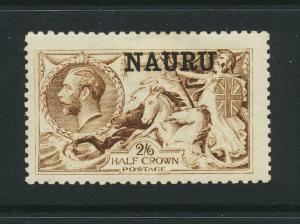 NAURU 1916, 2sh6d SEPIA ,DLR SEAHORSE, VF MLH SG#19 £600 $780 (SEE BELOW)