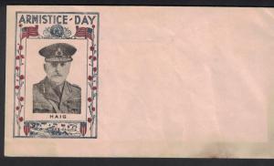 1934 Armistice Day Cover. Haig. Toning. #02 HAIG