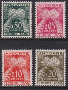 Sc# J42 / J45 French Andorra 1961 postage due set MLH CV $48.00