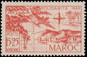1950 French Morocco #B44-B47, CB36-CB39, Complete Set(8), Hinged
