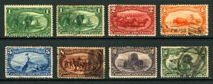 #285-#291 1c-50c 1898 Trans-Mississippi Exposition Mini Set Mint & Used 8 items