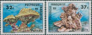 French Polynesia 1979 Sc#311-312,SG292-293 Coral set MLH