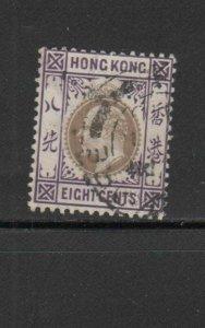 HONG KONG #93  1904  4c  KING EDWARD VII    USED F-VF  b