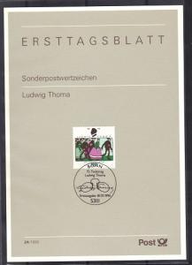 Germany 1996  Ersttagsblatt  Ludwig Thoma