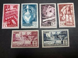 French Morocco Scott B44-49 Mint OG CV $15