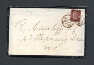 PENNY RED PLATE 145 USED ON COVER WITH 'LW&Co' PERFIN + CONTENTS