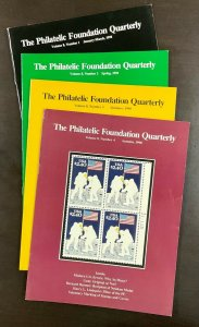 The Philatelic Foundation Quarterly 4 Issues Jan-March 1990 through Autumn 1990