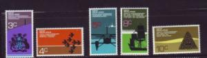 New Zealand Sc 495- 9 1972 Anniversaries stamps mint NH