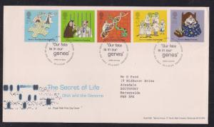 GB 2003 QE2 FDC Anniv. Of Discovery of DNA  set SHS - M886