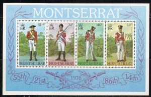 Montserrat 396a 1978 Uniforms s.s. NH