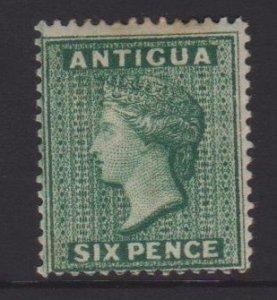 Antigua Sc#19 MH - tone spot on reverse