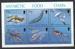 BRITISH ANTARCTIC TERRITORY MNH 4 DIFFERENT S/SHEETS