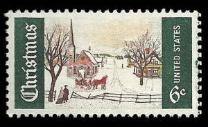 # 1384 MNH CHRISTMAS WINTER SUNDAY IN MAINE... XF