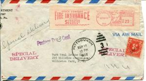 Airmail Special Delivery Mailomat Postage Due Cover 1952