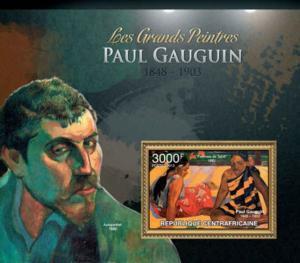 Central Africa - Artist Paul Gauguin - Souvenir Stamp Sheet - 3H-383