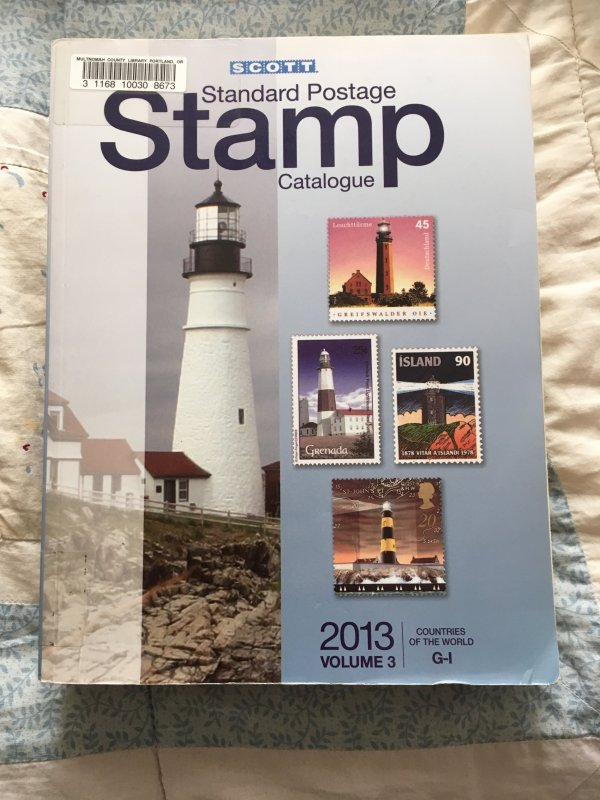 Scott 2013 Standard Postage Stamp Catalogue Vol 3: G - I Countries ExLibrary