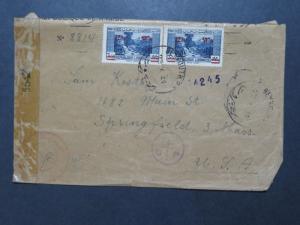 Lebanon 1944 Censor Cover to USA / Top Folded - Z8335