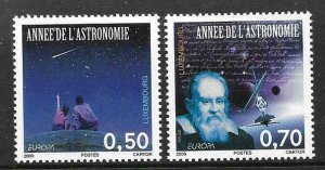 2009   LUXEMBOURG  -  SG.  1852 / 1853  -  ASTRONOMY  - EUROPA  -  UMM