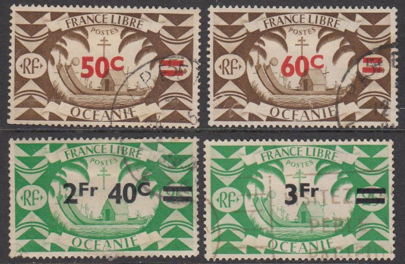 French Polynesia 152//157 Used CV $3.00