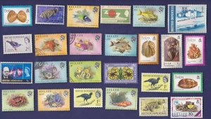 25 ALL DIFFERENT BRITISH HONDURAS & BELIZE  STAMPS