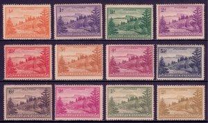 Norfolk Island - Scott #1-12 - MNH - Toning - SCV $19