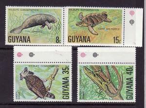 D3-Guyana-Sc#267-70-unused NH set-Wildlife Protection-Birds-