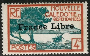 New Caledonia France Libre #220 Mint F-vf ....French Colonies are Hot!