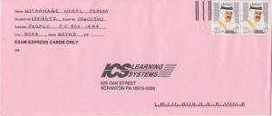 Qatar 1R Sheik Khalifa (2) 1998 Doha to Scranton, Penn.  LEGAL SIZE