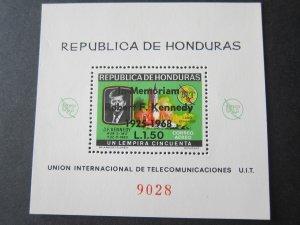 Honduras 1968 Sc 448a John F Kennedy set MNH