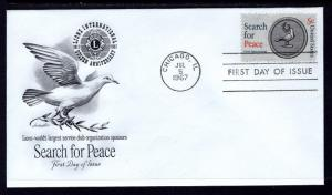 US 1326 Lions Search For Peace Artmaster U/A FDC