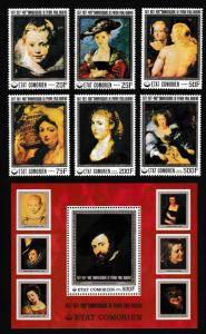 Comoro Is. 400th Birth Anniversary of Rubens 6v+MS SG#235-MS241 SC#261-267