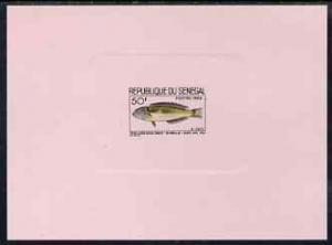 Senegal 1966 Wrasse Fish 50f de-luxe die proof in issued ...