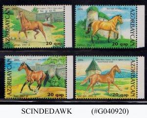 AZERBAIJAN - 2006 HORSES/ ANIMALS 4V MNH
