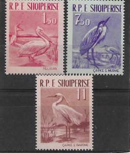 1961  ALBANIA  -  SG.  676 / 678  - BIRDS   -  UMM