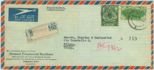 84617 - PAKISTAN - POSTAL HISTORY - REGISTERED Airmail COVER to ITALY 1960